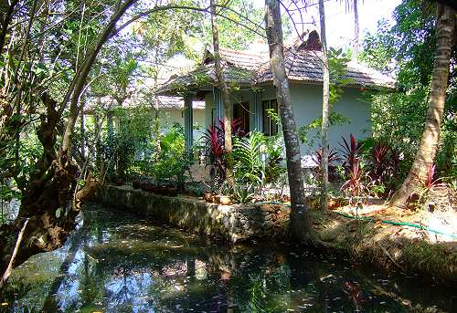Bungalows in den Backwaters